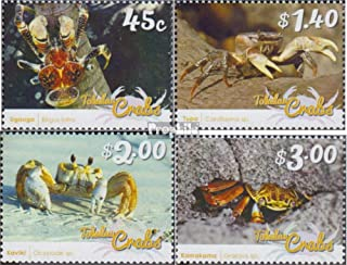 Tokelau 464-467 (complete.issue.) 2015 Crustaceans (Stamps for collectors) Water animals