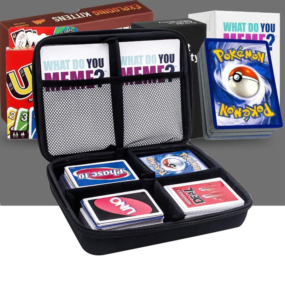 All Game Card Case para cartas de Pokemon Trading, Fase 10, Monopoly Deal Juego de cartas, C.A.H, también para juego principal todas las expansiones. Para más de 600 tarjetas: Amazon.es: Juguetes y