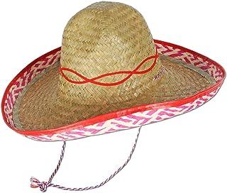 Beistle Sombrero Straw Hat Tan