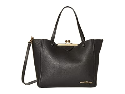 Marc Jacobs The Kisslock Mini Tote (Black) Handbags