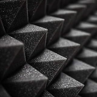 Sound-absorbing foam recording studio soundproof foam board 12×12×2 inch black soundboard