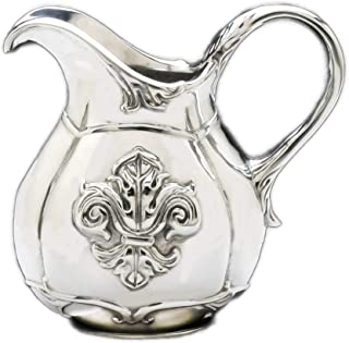 Arthur Court Designs Aluminum Small Fleur-De-Lis Pitcher 6.25