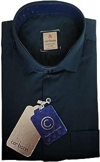 Carbonn Casual Shirt for Men Dark Green Plain Full Sleeves 100% Cotton Regular Fit Men's Shirt