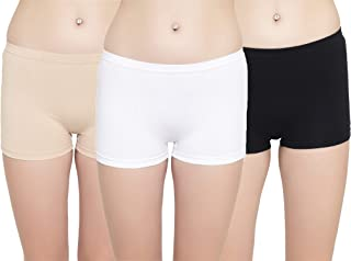 LEADING LADY Women's Plain/Solid Boy Shorts (Pack of 3) (522_Multicoloured_XL)