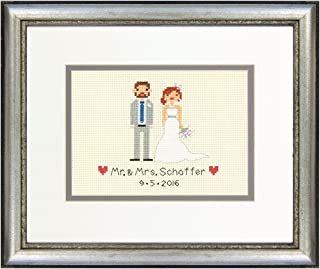 Dimensions 70-65160 Personalized Wedding Record Counted Cross Stitch Kit, 7