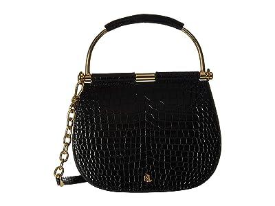 LAUREN Ralph Lauren Enfield Mason 20 Satchel (Black) Handbags