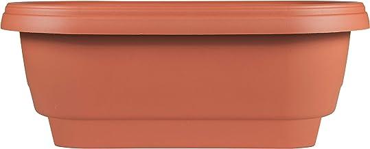 "Bloem Deck Balcony Rail Planter 24"" Terra Cotta"