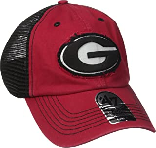 '47 NCAA Georgia Bulldogs Taylor Closer Hat, One Size Stretch, Red