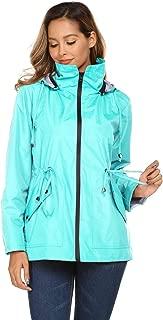 Avoogue Rain Jacket Women Outdoor Travel Windbreaker Waterproof Sports Raincoat