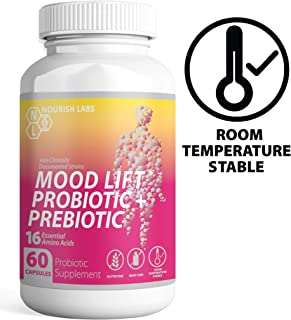 Nourish Labs Organic Prebiotics and Probiotics for Women. Clinically Proven Mood Boosting Dual Action Probiotics with Prebiotics and Cranberry. No Refrigeration Needed.