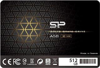 "Silicon Power 512GB SSD 3D NAND TLC A58 Performance Boost SATA III 2.5"" 7mm (0.28"") Internal Solid State Drive (SU512GBSS3..."