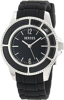 Versus Versace - Versus by Versace - Reloj Casual de Cuarzo para Mujer, Acero Inoxidable y Goma, Color Negro (Modelo: AL13SBQ809A009)