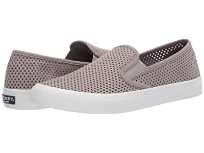 Sperry Seaside Perf Leather (Grey) Women
