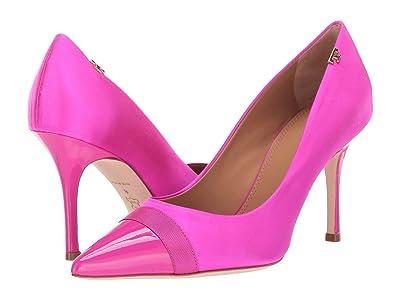 Tory Burch Penelope 85mm Cap Toe Pump (Imperial Pink/Imperial Pink/Imperial Pink) Women