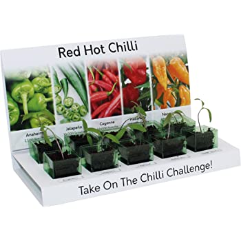 Red Hot Chilli Grow Kit 100% reciclable 5 variedades para cultivar ...