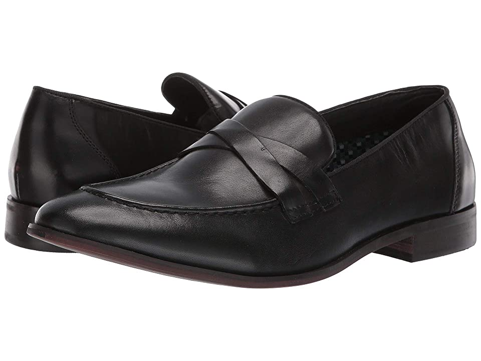 Steve Madden Offbeat (Black Leather) Men