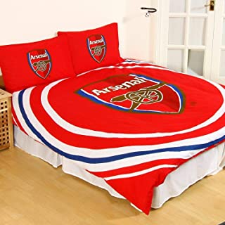 ARSENAL FC FOOTBALL CLUB DOUBLE DUVET QUILT COVER SET GUNNERS BOY BEDROOM GIFT