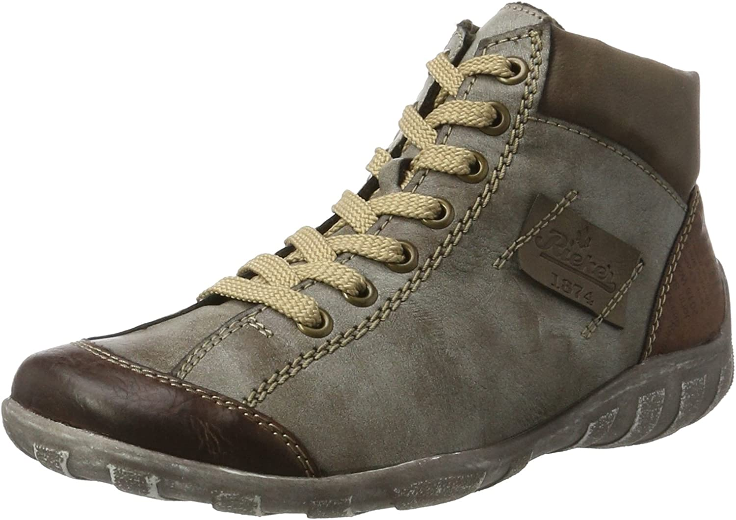 Rieker L6540-24 Brown Combination (Man-Made) Womens Boots