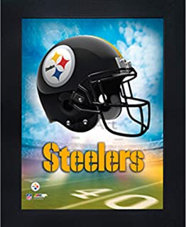 Pitsburgh Steelers 3D Poster Wall Art Decor Framed Print | 14.5x18.5 | Lenticular Posters & Pictures | Memorabilia Gifts for Guys & Girls Bedroom | NFL Football Team Sports Fan Pictures for Man Cave