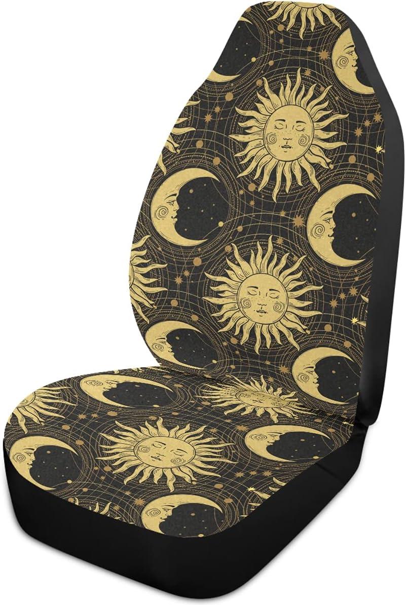 Price reduction Oarencol Boho Sun Moon service Star Car Seat Covers Mandala Univer Style