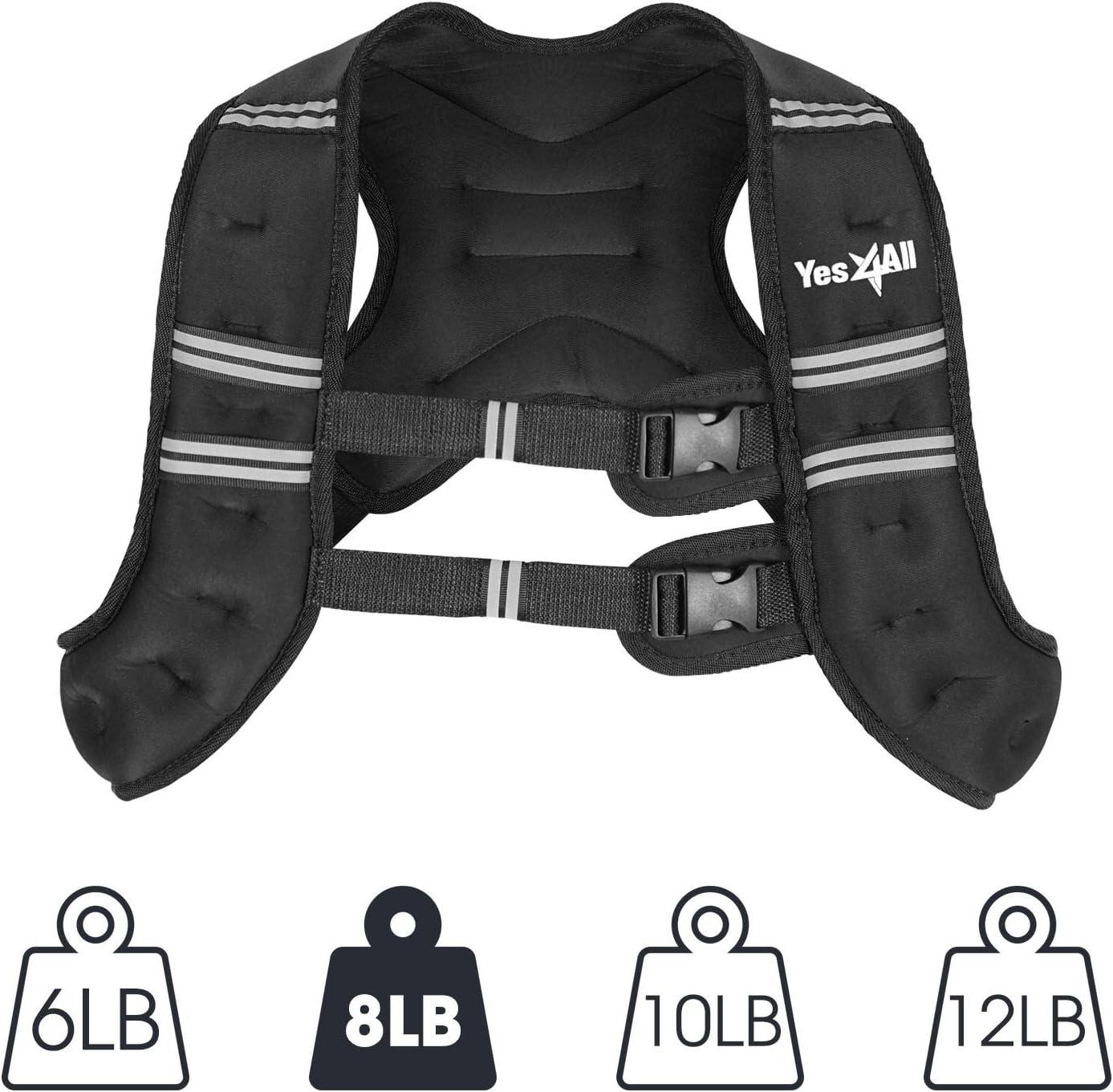 8lb Yes4All Gewichtsweste 10lb Single 6lb 12lb und Combo 12lb /& Ankle Gewicht 2lb