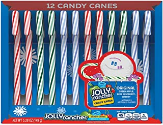 Jolly Rancher Candy Canes - Original Flavors - 12 ct