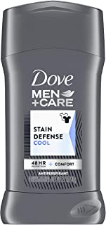 Dove Men+Care Stain Defense Antiperspirant Deodorant With anti-stain, anti-mark protection Cool Antiperspirant for men wit...