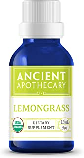 Lemongrass Organic Essential Oil from Ancient Apothecary, 15 mL - 100% Pure and Therapeutic Grade