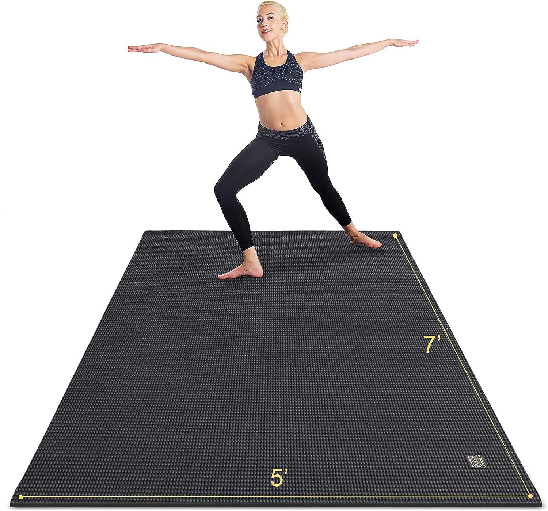 Gxmmat Manufacturer OFFicial shop Large Yoga Mat Non-Slip Ranking TOP2 7'x5'x9mm Mats Workout for Thick
