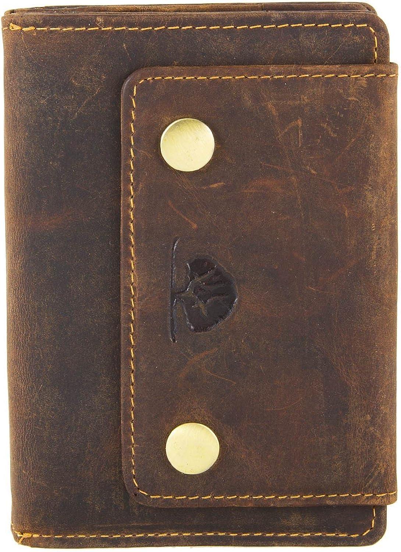 Grünburry Vintage Geldbörse Leder 13 cm sattelbraun B00SBP1IOI