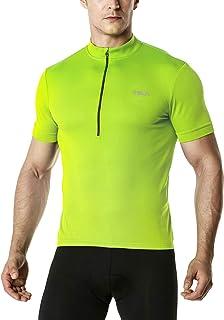 (テスラ)TESLA サイクルジャージ スポーツウェア メンズ ジップ シャツ [UVカット・吸汗速乾・超軽量] サイクルウェア サイクリング ドライ メッシュ サイクル 自転車 スポーツ MCT01 MCT21