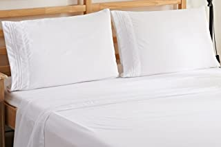Elegant Comfort 1500 Thread Count Wrinkle & Fade Resistant Egyptian Quality Ultra Soft Luxurious 4-Piece Bed Sheet Set, Qu...