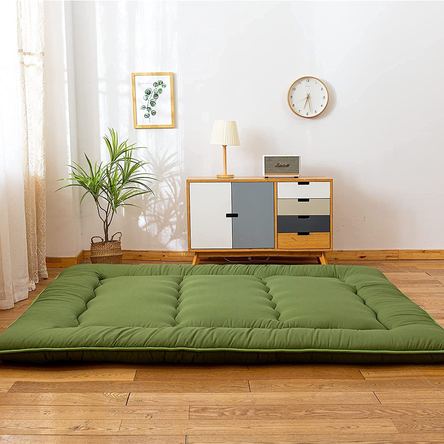 Green Japanese Shiki Futon Mattress Max 43% OFF Gues Up Roll Max 76% OFF Floor