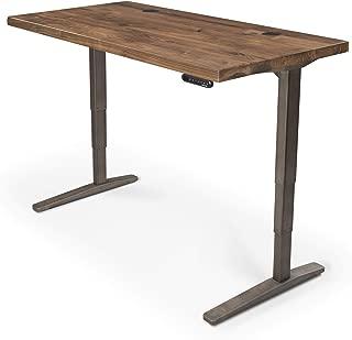 UPLIFT Desk - V2 Walnut Solid Wood Desktop Standing Desk, Height Adjustable Frame (Industrial), Advanced Memory Keypad & Wire Grommets (Black), Bamboo Motion-X Board (60