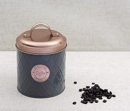 Pote Café Copper Lid 1 Litro Etna Cobre/cinza