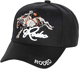 Rodeo Cowboy Baseball Cap Collection, Adjustable Velcro Closure, Variety of Embroidered Designs, Premium Quality