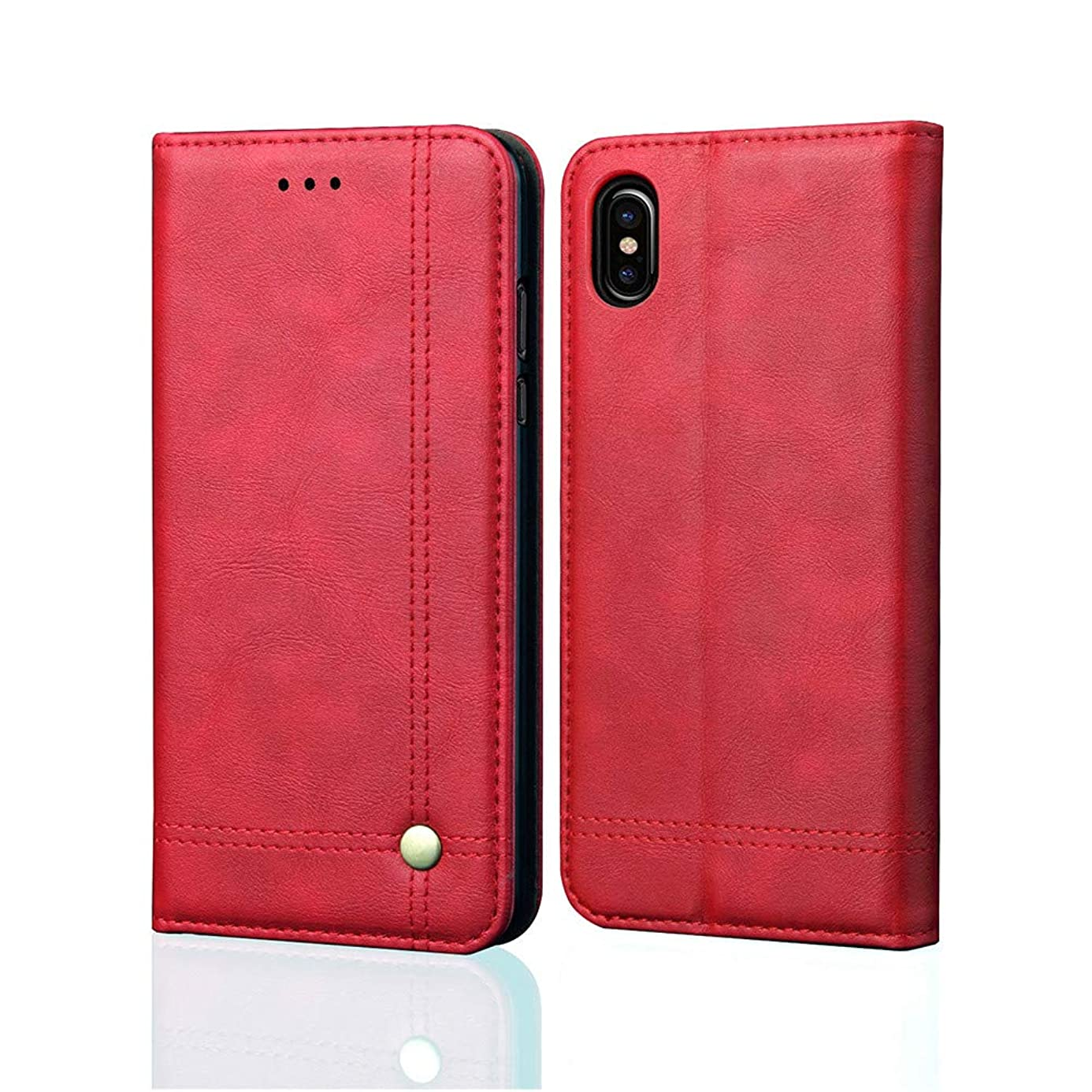 Sinwo Leather Slot Wallet Case Stand Flip Cover Skin Case for Apple iPhone XS Max 6.5inch