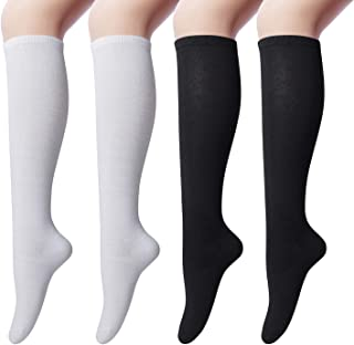 4 Paires Femmes De Luxe Épais Chaussettes Hautes Long Bottes Randonnée Taille UK 4-7 dsscs