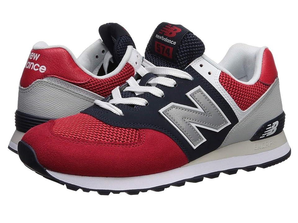 New Balance Classics 574v2-USA (Team Red/Pigment) Men