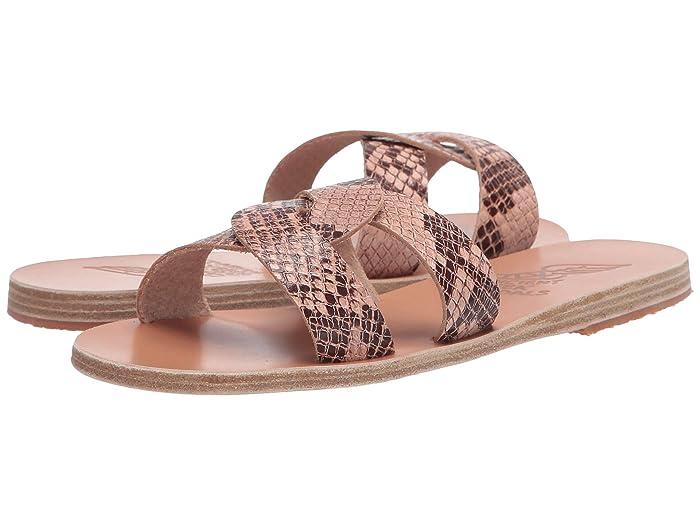 Ancient Greek Sandals  Desmos (Python Nude) Womens Sandals