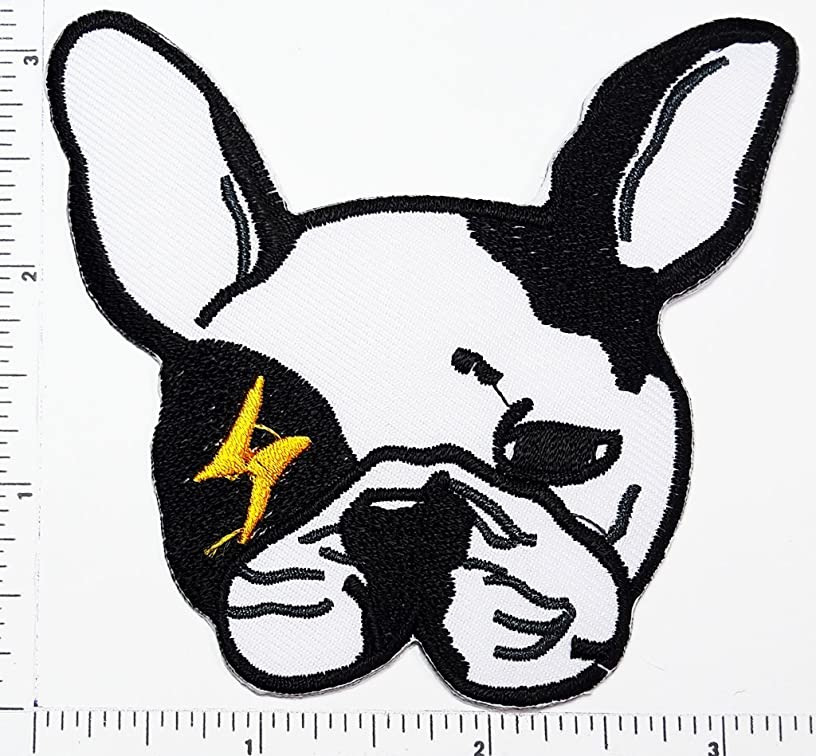 French bulldog Puppy pet cartoon baby patch Applique for Clothes Great as happy birthday gift