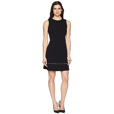 Calvin Klein Chain Detail at Hem Sheath Dress CD8C14LK (Black) Women