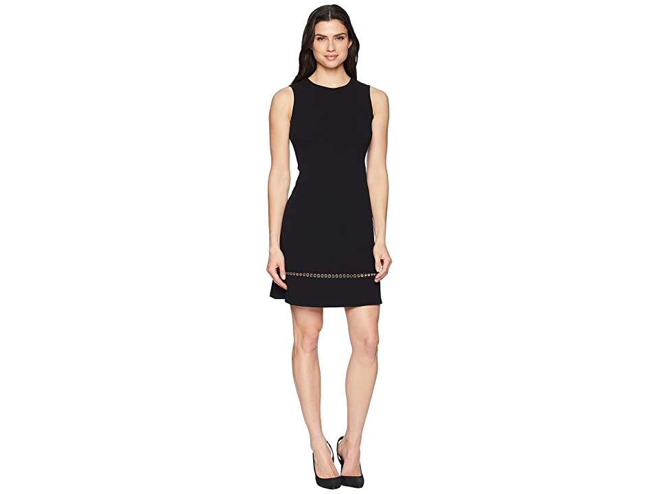 Calvin Klein Chain Detail at Hem Sheath Dress CD8C14LK (Black) Women