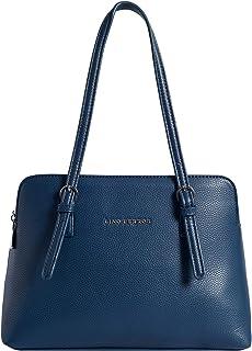 Lino Perros Blue Faux Leather Handbag