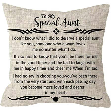 Amazon Com Itfro Great Aunt Gift From Niece Nephew To My Special Aunt Body Cream Burlap Throw Pillow Case Cushion Cover Couch Sofa Decorative Square 18x18 Inches Home Kitchen
