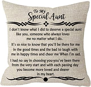 ITFRO Great Aunt Gift from Niece Nephew to My Special Aunt Body Cream Burlap Throw Pillow Case Cushion Cover Couch Sofa Decorative Square 18x18 inches