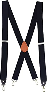 Romanlin Suspenders for Men with Hooks on Belt Loops Heavy Duty Big and Tall X Back Work Braces