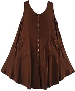Lagenlook Plus Size Sleeveless Vest Tunic Top