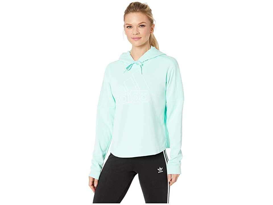 adidas Team Issue BOS Pullover Hoodie (Clear Mint/White) Women