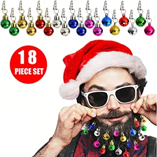 Chasgo Beard Ornaments Christmas Gag Gifts, 18 Packs Colorful Christmas Beardaments Sounding Beard Baubles Ornaments, Ugly Christmas Party Decor for Dad, Men, Boyfriend, Husband, Christmas Beard Gifts